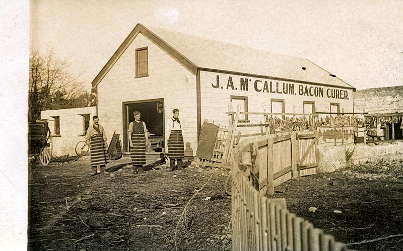 No. 004 - 'J. A McCallum Bacon Curers', Unknown location ?
