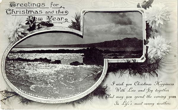 No. 17 Auckland Harbour Rangitoto Greetings