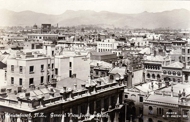 No.101 - Christchurch N.Z, General View looking South