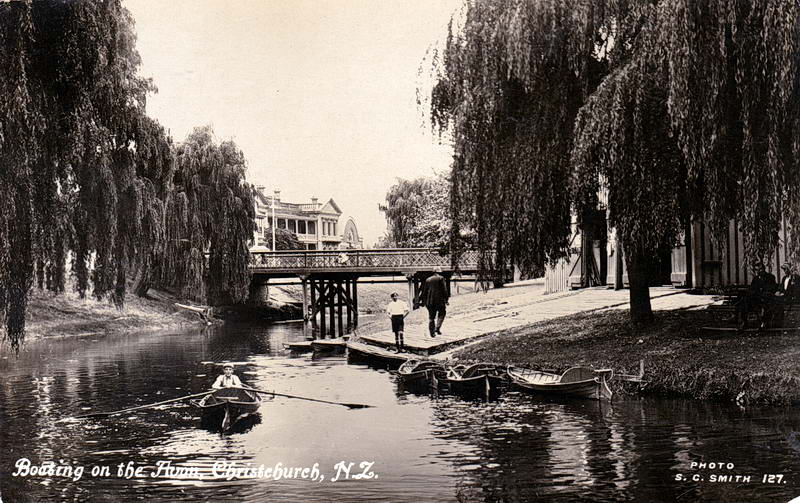 No.127 - Boating on the Avon, Christchurch, N.Z,