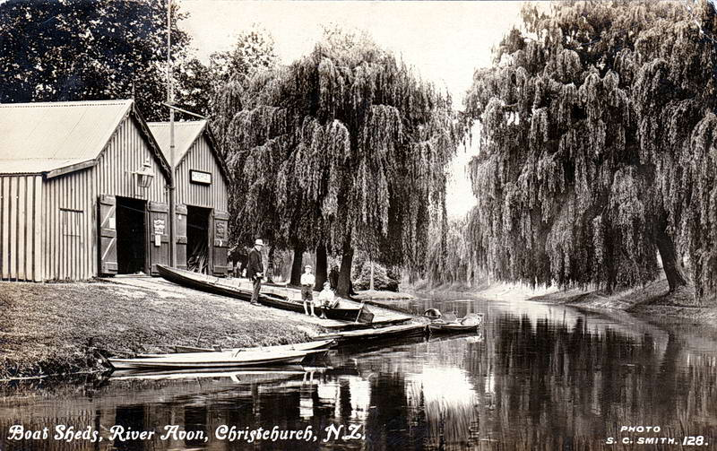 No.128 - Boat Sheds, River Avon, Christchurch, N.Z,
