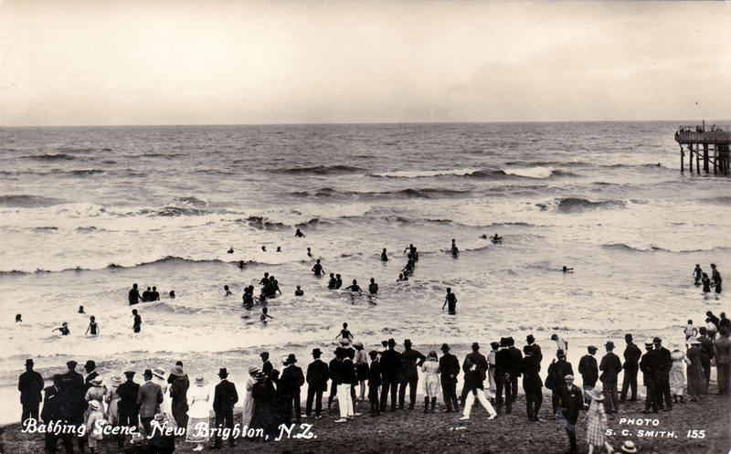 No.155 - Bathing Scene, New Brighton, N.Z